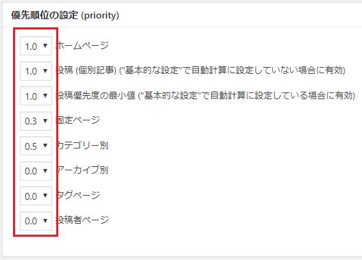 GoogleXMLsitemaps設定7